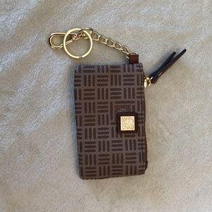 Anne Klein key chain purse